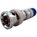 CSZ-BNC-CM6 - Conector BNC-macho, crimpagem de fixação no cabo por compressão.