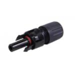 ZMC4-TM+ - Conector Solar MC4 - Linha macho + para cabo 4mm