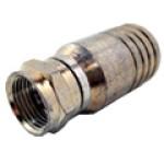 F11-460P - Conector F-macho, crimpagem hexagonal