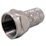 FTO-59 - Conector F-macho, fixação por roscagem da capa do coaxial